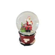 LED SITTING SANTA SNOWGLOBE