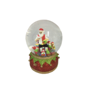 LED SANTA LIST SNOWGLOBE
