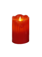 12CMH LARGE RED LED WAX CANDLE