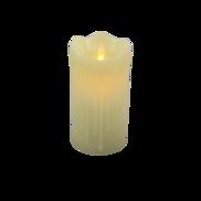 12CMH LARGE WHITE LED WAX CANDLE