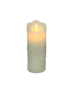 20CMH WHITE WAX BATTERY CANDLE