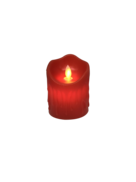 10CMH RED WAX BATTERY CANDLE