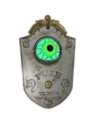 SILVER WITH BRUSHED GOLD EYE BALL DOOR BELL