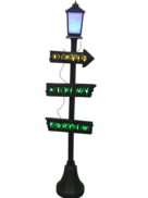 WITCHY WAY LAMP POST