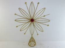 GOLD WIRE SUNFLOWER TREE TOPPER