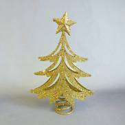 22CMH GOLD GLITTER TREE, TREE TOPPER