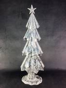 50CMH WHITE/SILVER METAL TREE