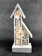 31CMH 2 STORY WOOD HOUSE WITH PLASTIC WINDOWS LED