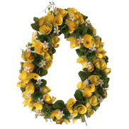 43CMD YELLOW/GREEN WREATH