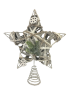 RATTAN GREY TREE TOPPER STAR
