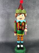 40CMH RED/GREEN ELF NUTCRACKER
