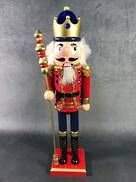 40CMH RED NUTCRACKER WITH SWORD