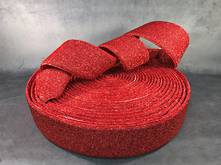 25M RED MESH FABRIC RIBBON