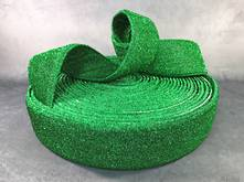25M GREEN MESH FABRIC RIBBON
