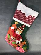 VERY LARGE SNOWMAN CHRISTMAS STOCKING