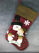 VERY LARGE SNOWMAN 'MERRY CHRISTMAS'  STOCKING