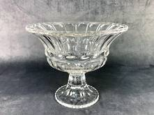 16CMH GRECIAN CUT GLASS BOWL ON STAND