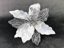 25CMD WHITE/SILVER POINSETTIA