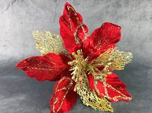 25CMD RED/GOLD POINSETTIA