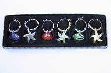 SET 6 BEACH WINE CHARMS