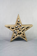 20CMD CARVED WOOD STAR WITH GOLD GILT COVERING