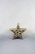 14CMD CARVED WOOD STAR WITH GOLD GILT COVERING