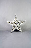 CARVED WOOD STAR WITH SILVER GILT COVERING