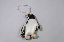 HAND EMBROIDERED PENGUIN