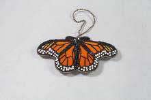 HAND EMBROIDERED MONARCH BUTTERFLY