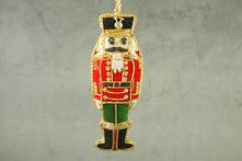 HAND EMBROIDERED VELVET AND BEAD NUTCRACKER
