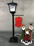 37CMH SNOWING BLACK LAMP WITH CAROLERS