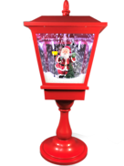 64CMH TABLETOP RED SNOWING LANTERN