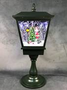 64CMH TABLETOP GREEN SNOWING LANTERN