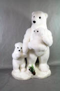 43CMH FLOCKED POLAR BEAR FAMILY