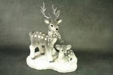 GREY FOAM DEER ON STAND