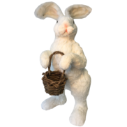 STANDING WHITE BUNNY WITH BASKET