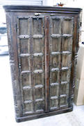 ANTIQUE INDIAN DOOR CABINET