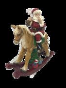 SANTA ON ROCKING HORSE