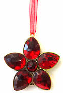 RED/GOLD JEWELED FLOWER (6)