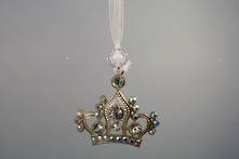 ZINC AND DIAMANTE CROWN HANGER