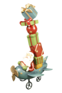 RESIN SANTA IN PLANE PRESENT STACK
