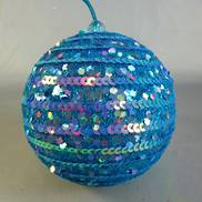 AQUA SEQUINNED BAUBLE