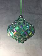 GREEN BEADED ONION HANGER