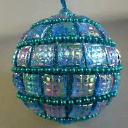 AQUA BLUE BEADED BAUBLE