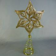 CHAMPAGNE GLITTER FLOWER TREE TOPPER