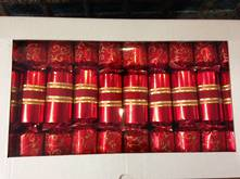 BOX50, 30CM RED & GOLD OPULANCE CRACKERS