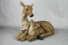 MOTHER AND FAWN LAYING
