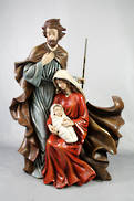 HOLY FAMILY WRAPPED IN FLOWING ROBES