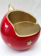 RED GOLD STAR CHRISTMAS BAUBLE CHAIR