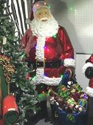 190CMH 33LED SANTA WITH BAG